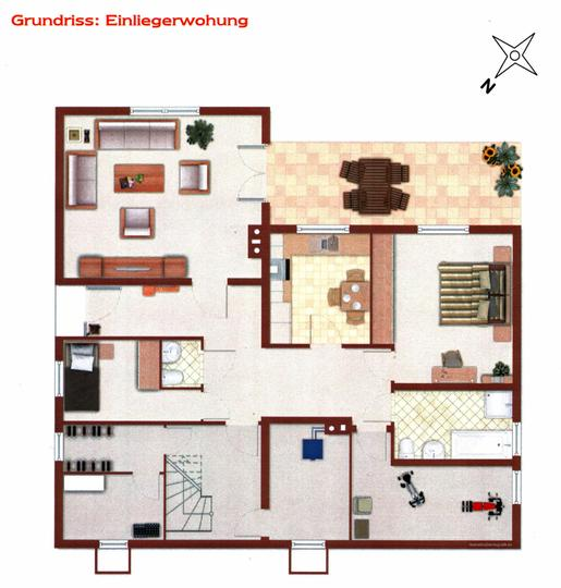 bobotec immobilien 1 2 familienhaus grundriss einl. Black Bedroom Furniture Sets. Home Design Ideas